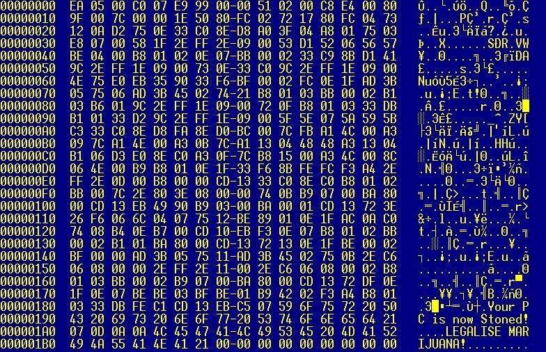 Como trabajan la mayoría de virus que encriptan información  ?