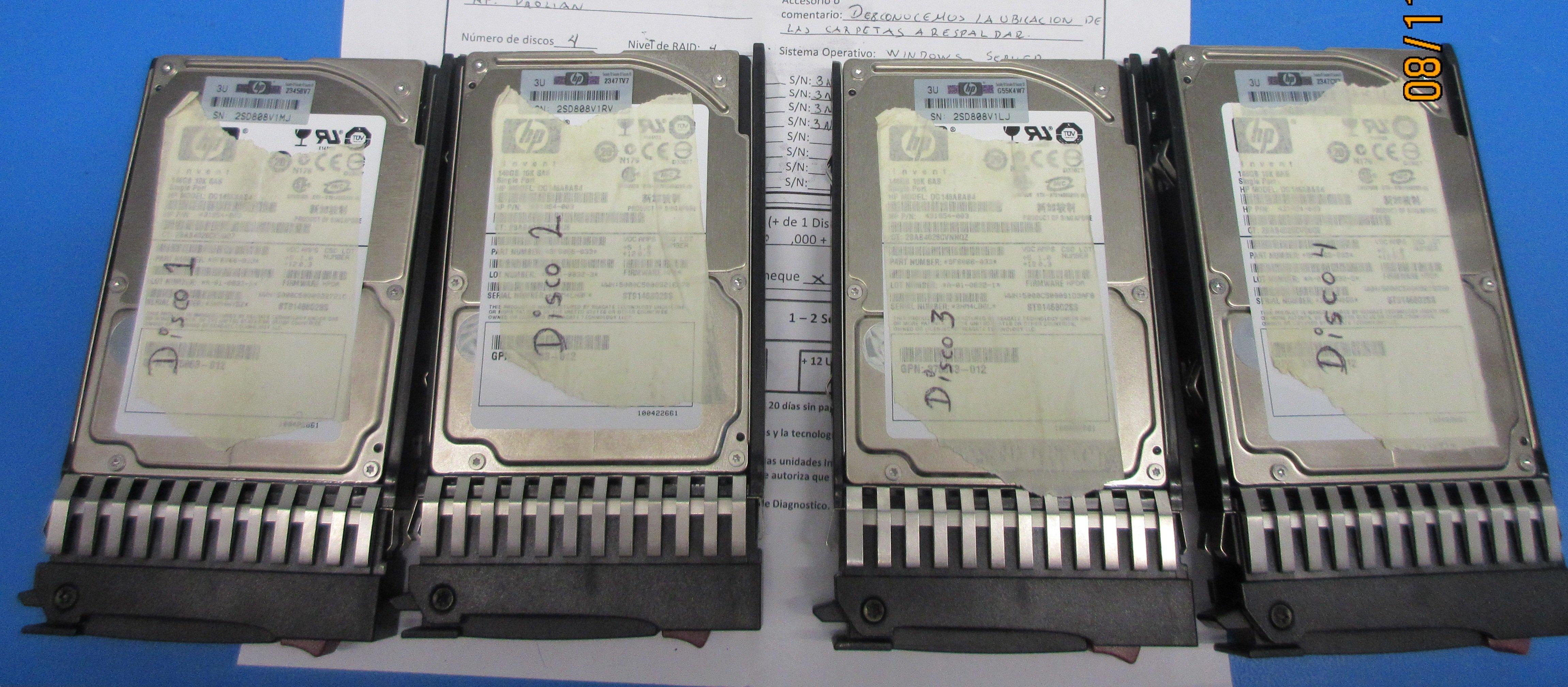 Recuperación de datos en un Servidor HP Proliant ML350 G5